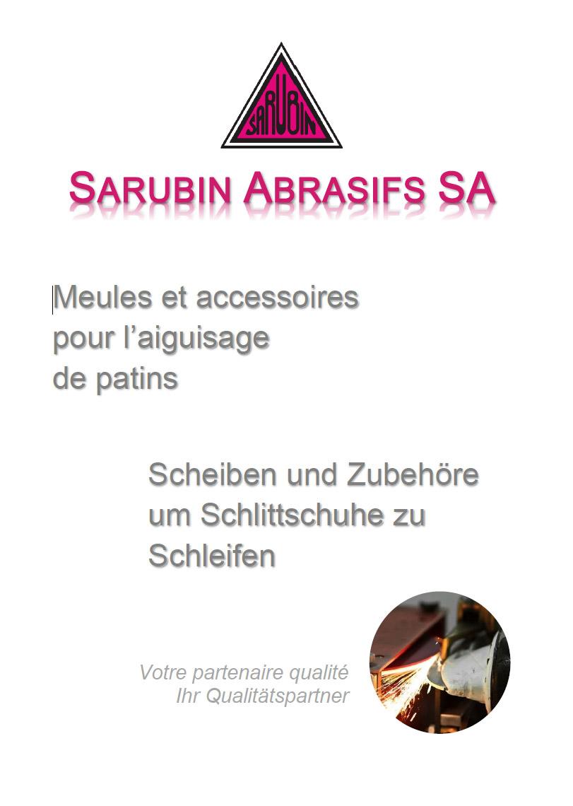 Catalogue Sarubin - Meules et accessoires pour l'aiguisage de patins